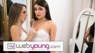 WebYoung Kimmy Granger Rims her Teen Friend