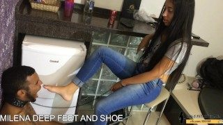 Deep Feet + Shoe Gagged Control Girls Kink Brazilian